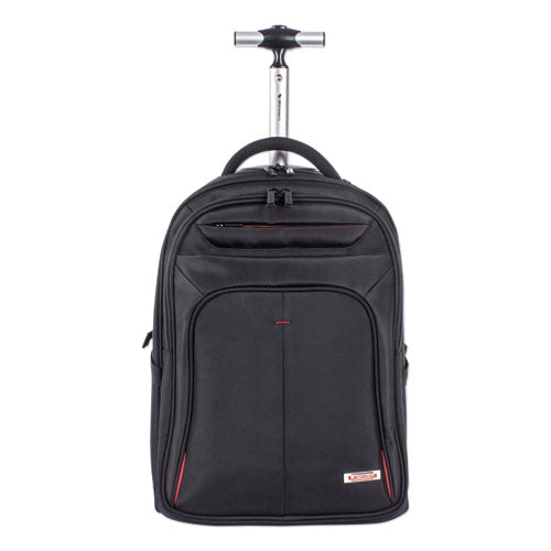 "Purpose Rolling Overnight Backpack, 17 1/2"" x 20 1/2"" x 11"", Black"