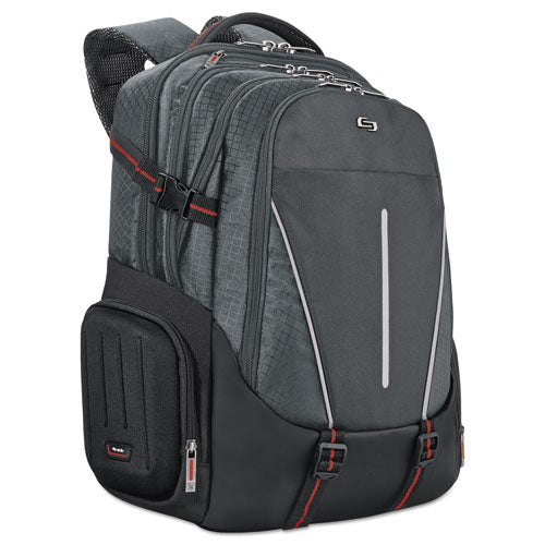 "Active Laptop Backpack holds Laptops up to 17 1/4"", 12 1/2"" x 18 5/8"" x 9"", Black"