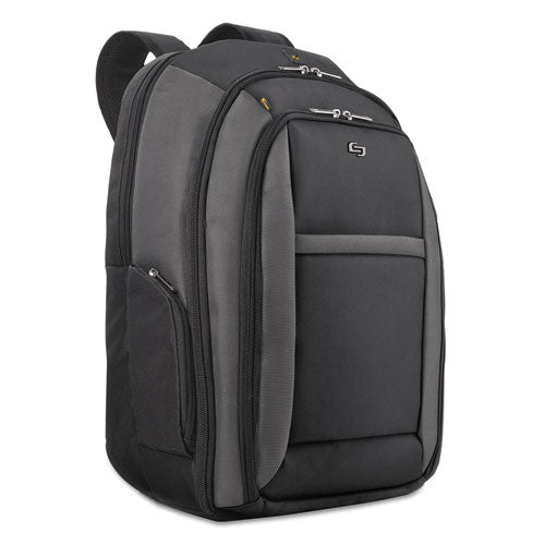 "Pro Checkast Backpack holds Laptops up to 16"", 13 3/4"" x 17 3/4"" x 6 1/2"", Black"