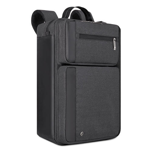"Urban Hybrid Briefcase holds Laptops up to 15 1/2"", 17"" x 12"" x 7"", Charcoal"