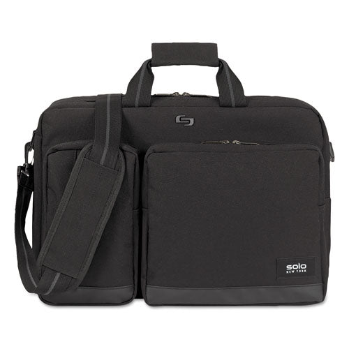 "Urban Hybrid Briefcase holds Laptops up to 15 1/2"", 17 1/4"" x 12 1/2"" x 8"", Black"