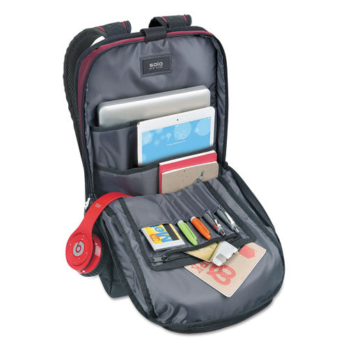 "Draft Nylon Backpack holds Laptops up to 15 1/2"", 12 1/2"" x 18 1/8"" x 7"""