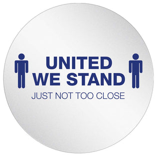 "StandSafe 20"" Diameter Circle w/Adhesive Personal Spacing Disks – United We Stand, but Not too Close"
