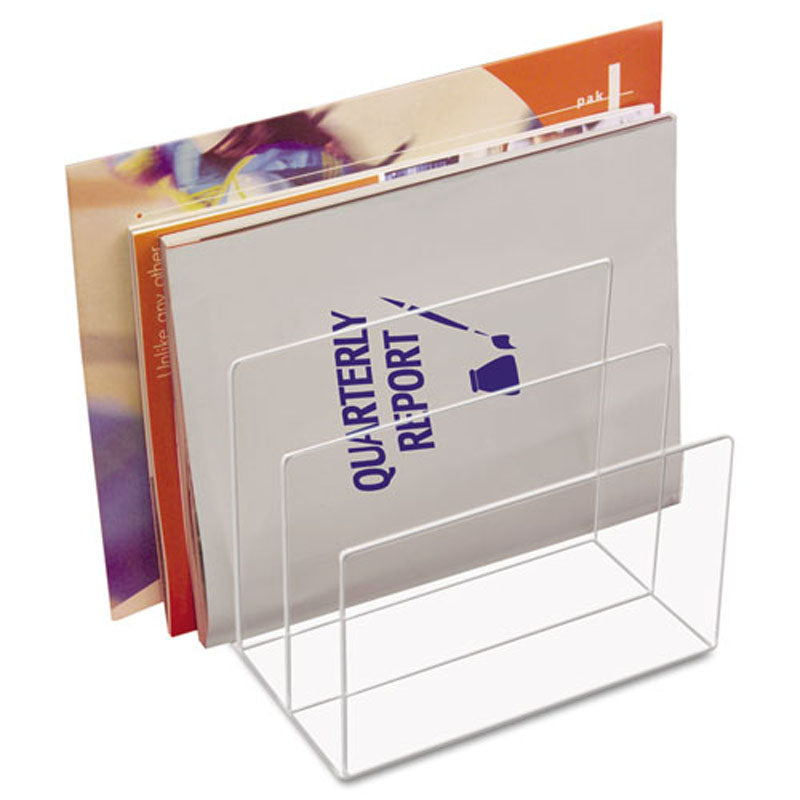 Acrylic 3-Section Desktop Sorter