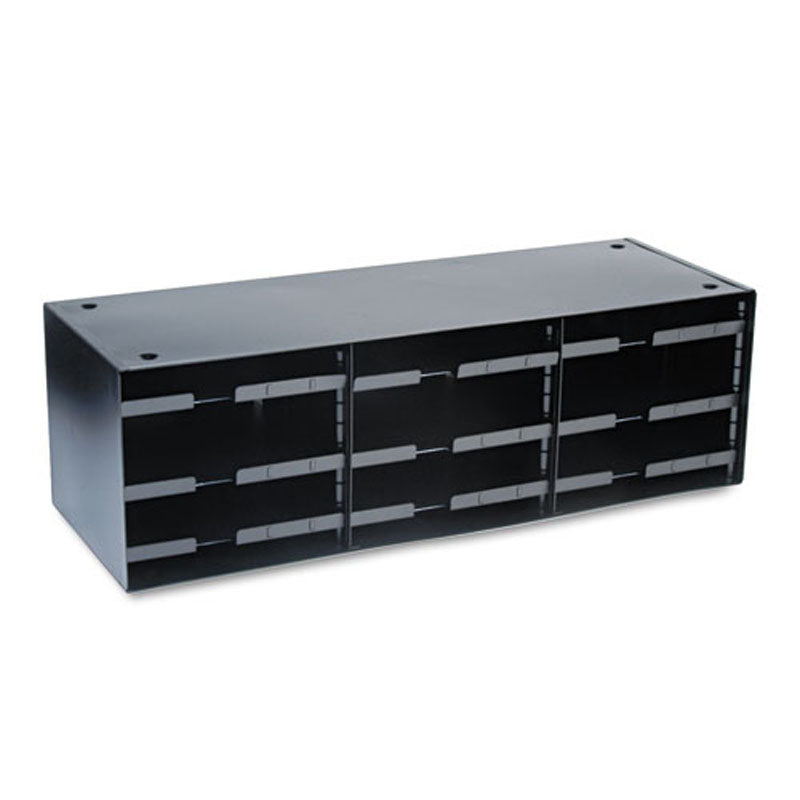 Adjustable 12-Compartment Steel Mail Sorter