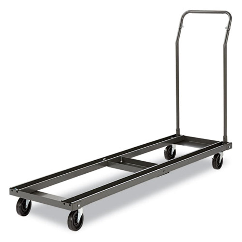 "Adjustable Folding Table Cart, 20 3/4""w x 50 5/8-75 3/8""d, Black"