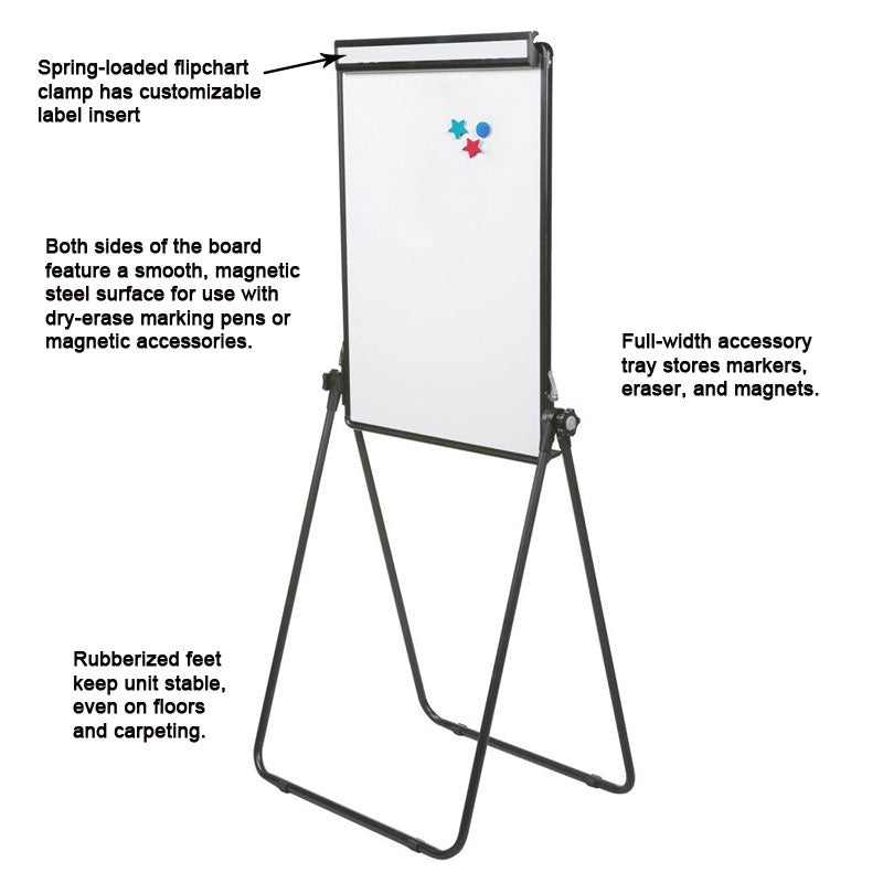Adjustable-Height Whiteboard/Flipchart