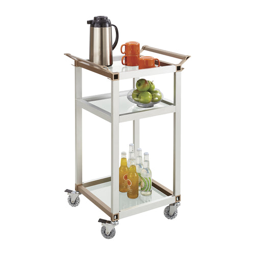 Aluminum Slim-Line Refreshment Cart, Small