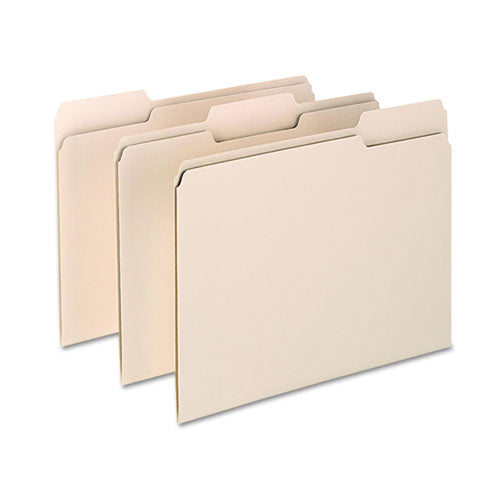 Archival-Quality Manila Pressboard File Folders, 3rd-Cut, Letter (box of 100)