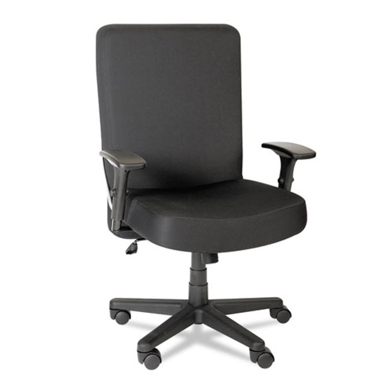 Big & Tall High-Back Task Chair, Black w/Black