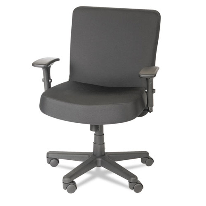 Big & Tall Mid-Back Task Chair, Black w/Black