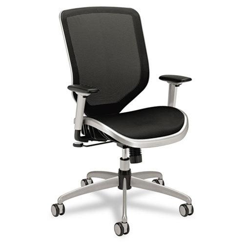 Boda Mesh High-Back Work Chair, Titanium w/Black