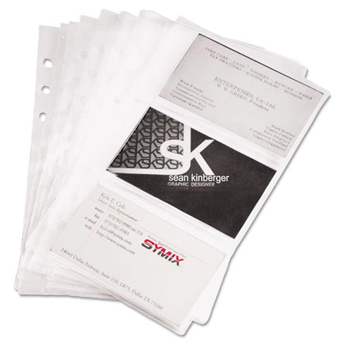 Business Card Binder Pages (set of 10 pages)