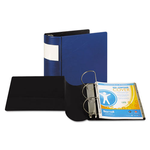 Contour Spine Locking Slant D-Ring View Binder