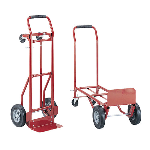 Convertible Heavy-Duty Hand Truck Red