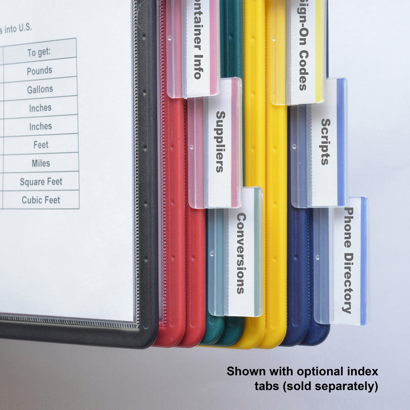Ultimate Office Deluxe Reference Organizer Pockets with Easy-Load Pockets, Steel-Reinforced Pins (set of 5) - Assorted