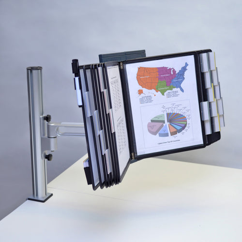 OutPost™ 20-Pocket 1-Link Reference Organizer with Post and Clamp