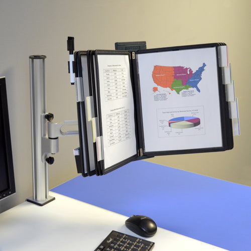 OutPost™ 10-Pocket 1-Link Reference Organizer with Post and Clamp