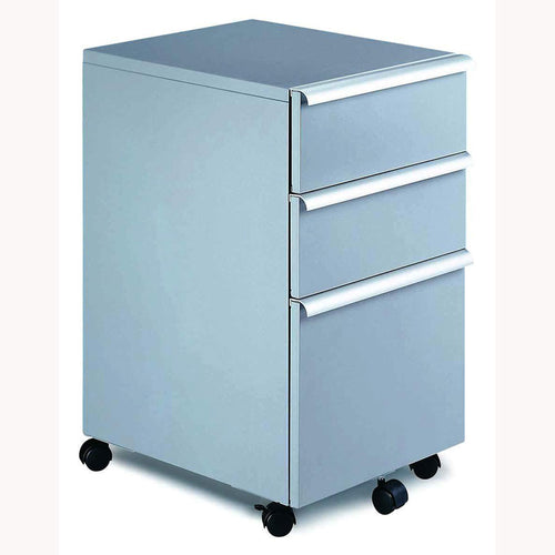 Deluxe Double Supply Drawer/Hanging File Mobile Cabinet w/Aluminum Handles & Metal Top
