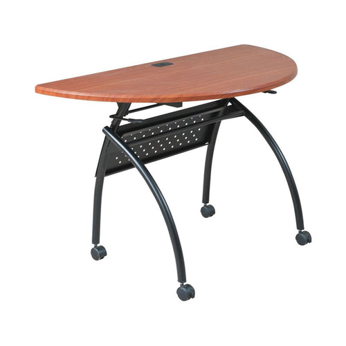 "Design Folding Conference Table, 48""w x 24""d 1/2-Round"