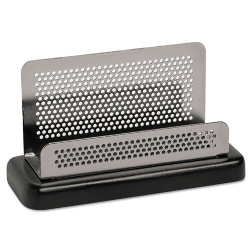 Concepts Business Card Holder, Silver/Black