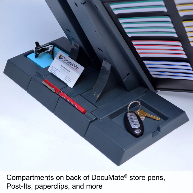 Ultimate Office DocuMate® 20-Pocket Desk Reference Organizer with Easy-Load Pockets, Steel-Reinforced Pins, and Free Bonus Panel