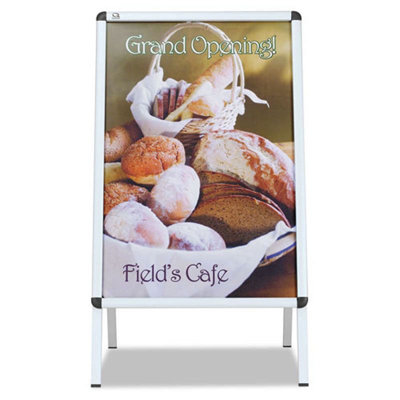 "Double-Sided, Snap-Frame Sign Holder (Fits 24"" x 36""), Aluminum Frame"