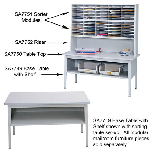 E-Z Sort Sorting Table with Shelf