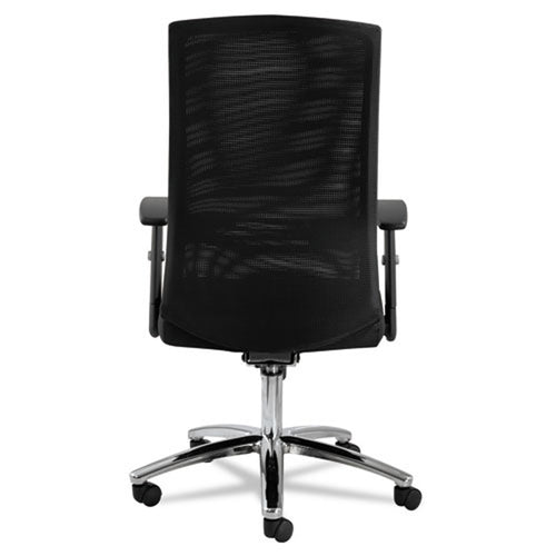EY Mesh Multifunction Chair, Chrome w/Black