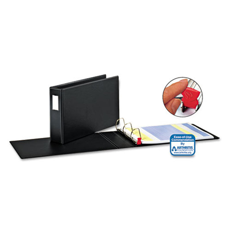 "EasyOpen Tabloid 11"" x 17"" Locking Slant D-Ring Binder, Black"