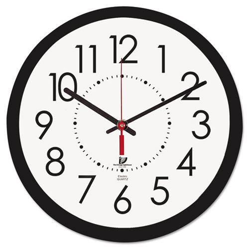 "Electric 14 1/2"" Contemporary Wall Clock, Black"