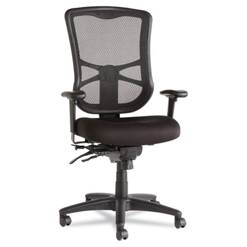 Elusion Mesh High-Back Multifunction Chair, Black w/Black Premium Fabric