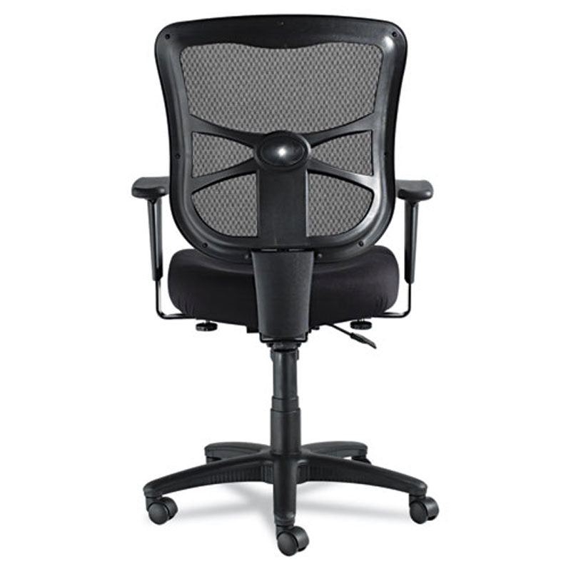 Elusion Mesh Mid Back Swivel/Tilt Chair, Black W/Black Mesh