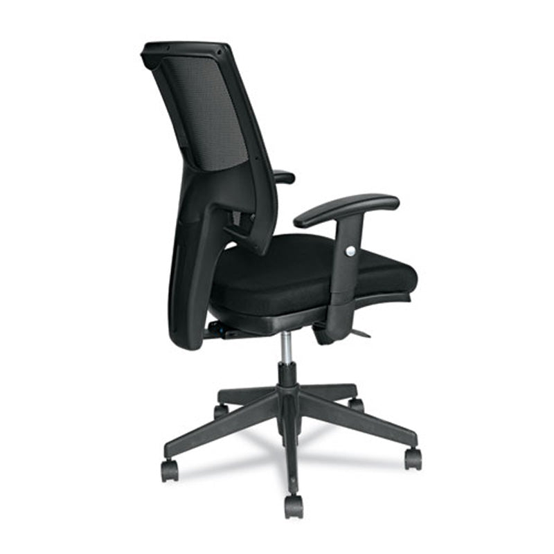 Epoch Fabric Mesh Multifunction Chair, Black w/Black