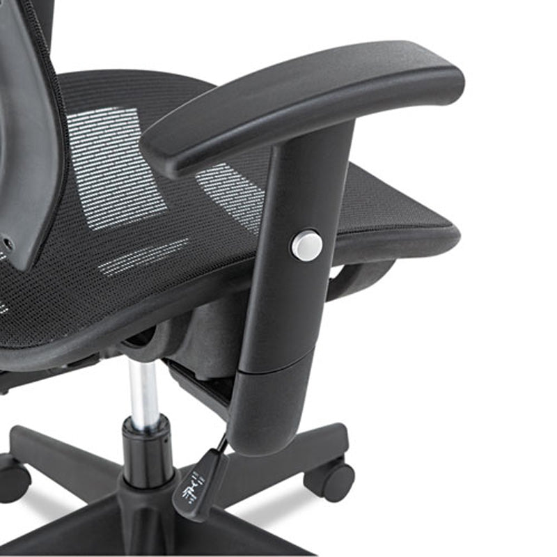 Epoch Suspension Mesh Multifunction Chair, Black w/Black