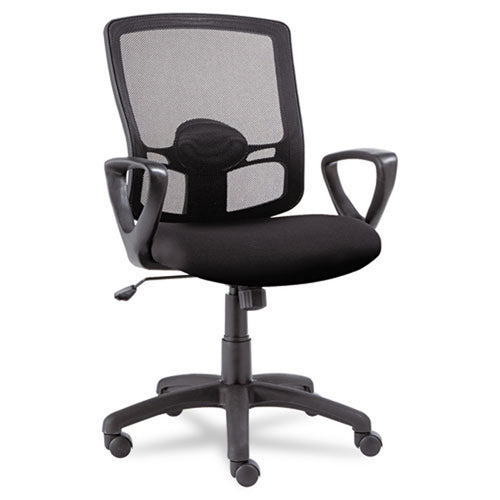 Etros Mesh Mid-Back Chair, Black w/Black