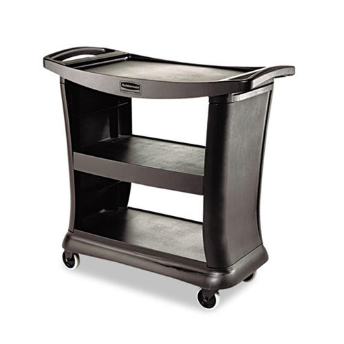Executive Raised Edge Service/Utility Cart, Black