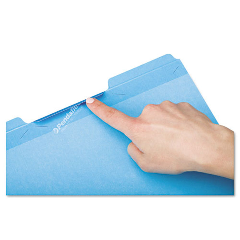 "Expanding Recycled Pressboard Folders, 1"" Expansion, 3rd-Cut (box of 25)"