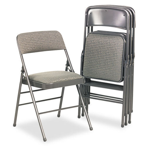 Fabric Padded Seat and Back Folding Chair (set of 4 chairs)