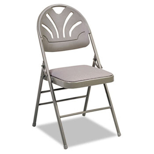 Fanfare Fabric Padded Seat & Molded Back Folding Chair (set of 4 chairs)