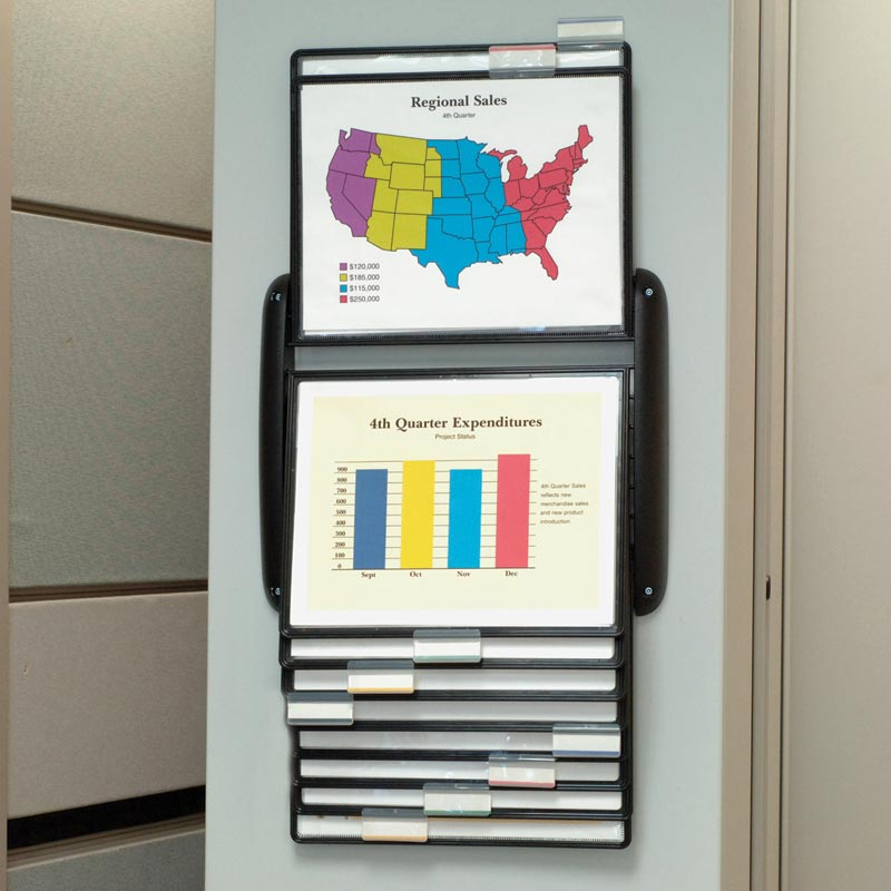 Flip-A-File 10-Pocket Wall Reference Organizer
