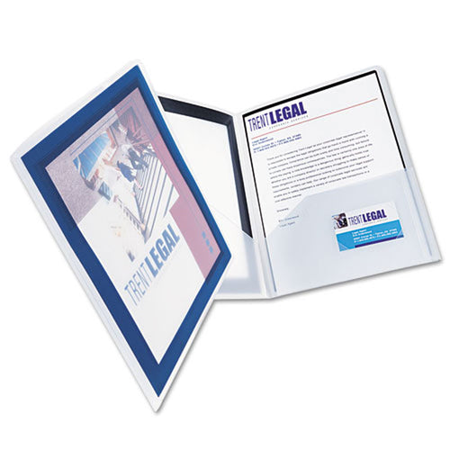 Flexi View Twin-Pocket Folders, Letter, Pack of 2