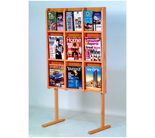 "Floor Stand Only for 36 3/8"" High Acrylic & Oak Wall Displays"