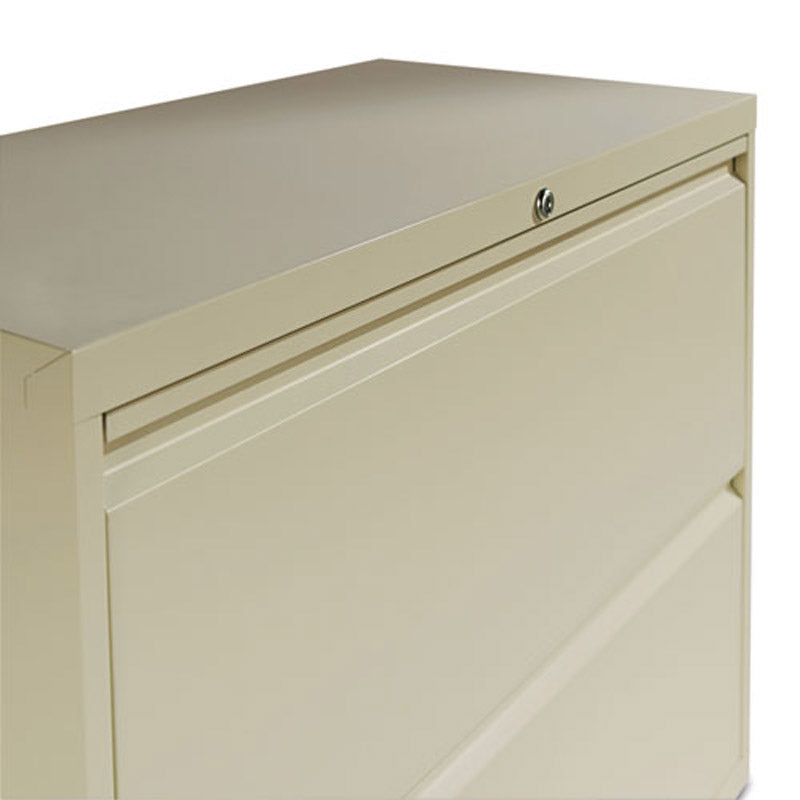 "Four-Drawer Lateral File Cabinet, 36""w x 53 1/4""h x 19 1/4""d"