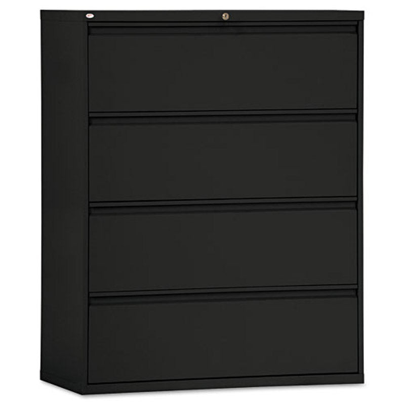 "Four-Drawer Lateral File Cabinet, 42""w x 53 1/4""h x 19 1/4""d"