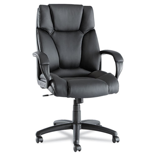 Fraze Executive High-Back Swivel/Tilt Chair, Black w/Black Leather