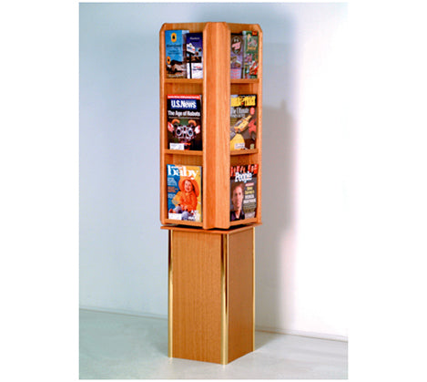 Free Standing 12 Pocket Rotary Literature Display