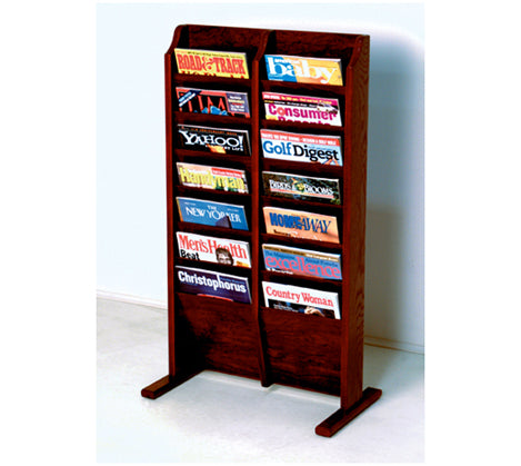 Exceptionnel Free Standing 14 Pocket Magazine Rack