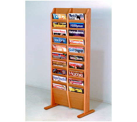 Free Standing 20 Pocket Magazine Rack