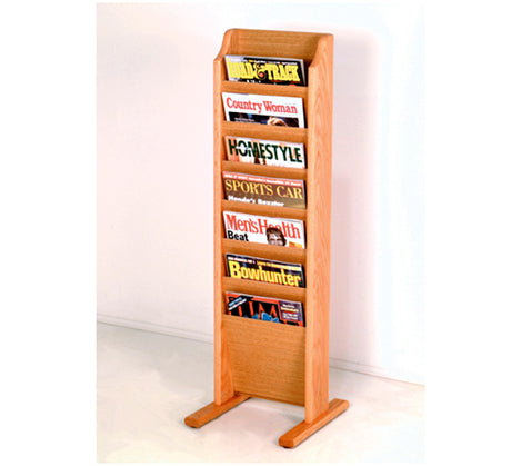 Free Standing 7 Pocket Magazine Rack